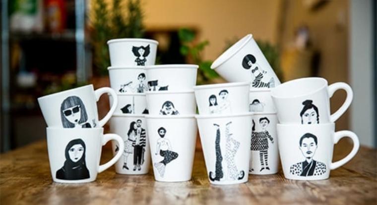 Ein einzigartiges Designerstück mit Lächel Garantie Das kreative Porzellan von Helen B.