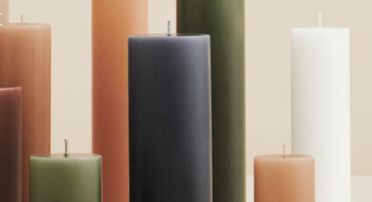 Handgezogene Kerzen aus sorgfältigster Herstellung