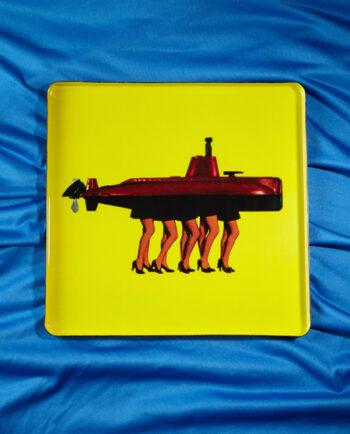 "Previous Next Tablett Small Square ""Cray Navy"" X Gangzaii"